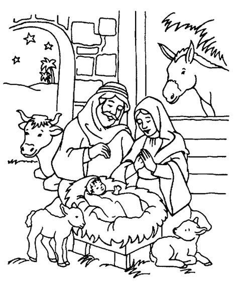 christian christmas coloring pages for kids az coloring