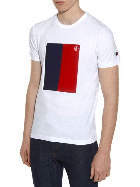 T Shirt Lacoste It 0 2 lacoste marine flag tshirt in white for lyst