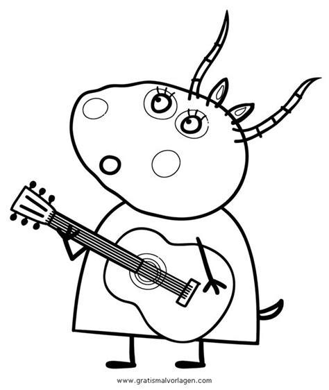 peppa wutz  gratis malvorlage  comic trickfilmfiguren peppa wutz ausmalen
