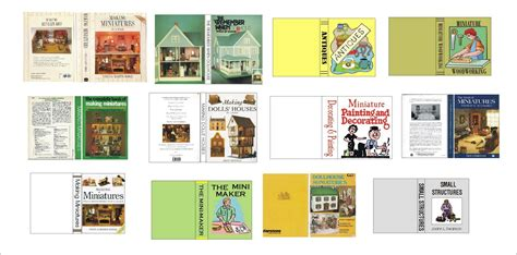 printable pictures of books dyi dollhouse miniatures creative minds are rarely tidy