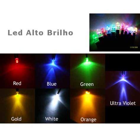 resistor para led de alto brilho led alto brilho 5mm 7 cores a escolher pacote 10 pe 231 as