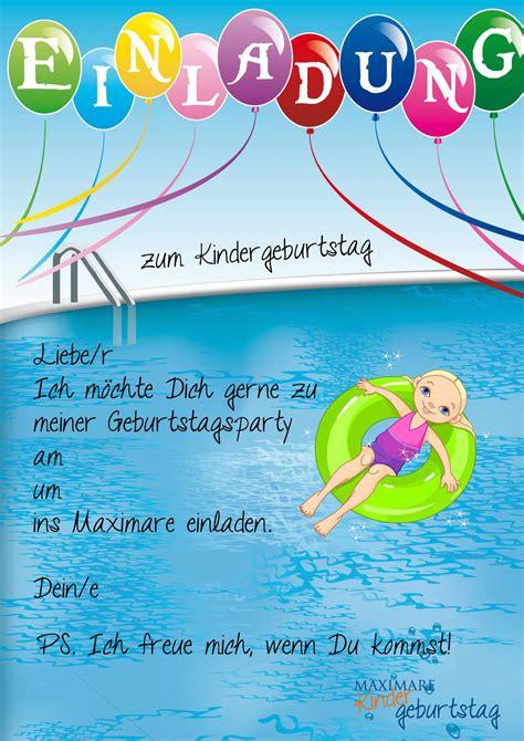 einladungskarten schwimmbad kostenlos ausdrucken