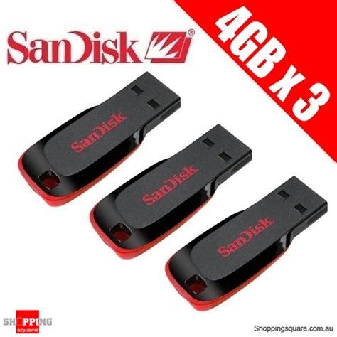 Sandisk Cruzer Blade 4gb 3x sandisk cruzer blade 4gb usb flash drive shopping shopping square au