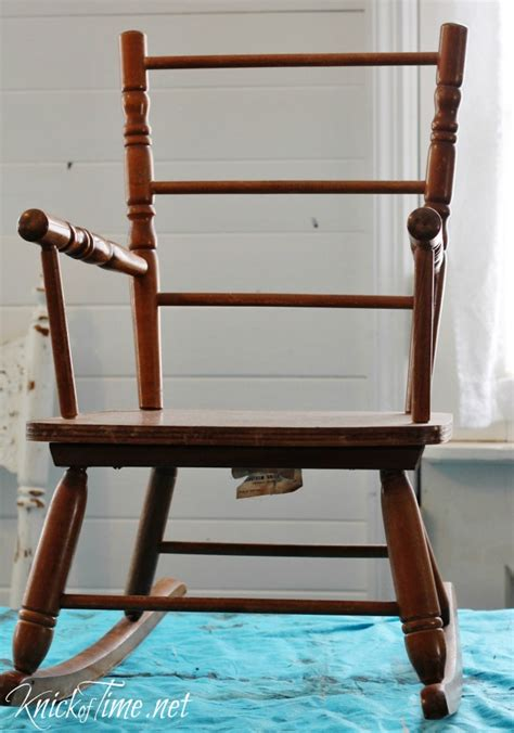 Vintage Child Rocking Chair by Vintage Child S Rocking Chair Makeover Via Knickoftime Net