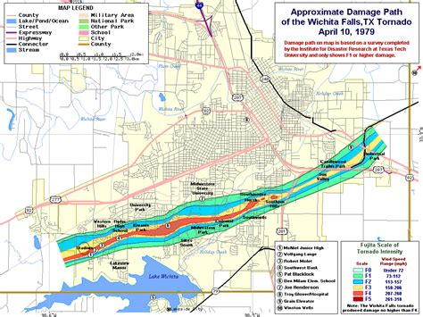 map of texas wichita falls 10 april 1979 wichita falls tx tornado photos
