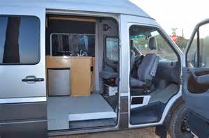 Cheap Used Kitchen Cabinets For Sale Three Adventurers Now Call A Sprinter Home Sprinter Rv