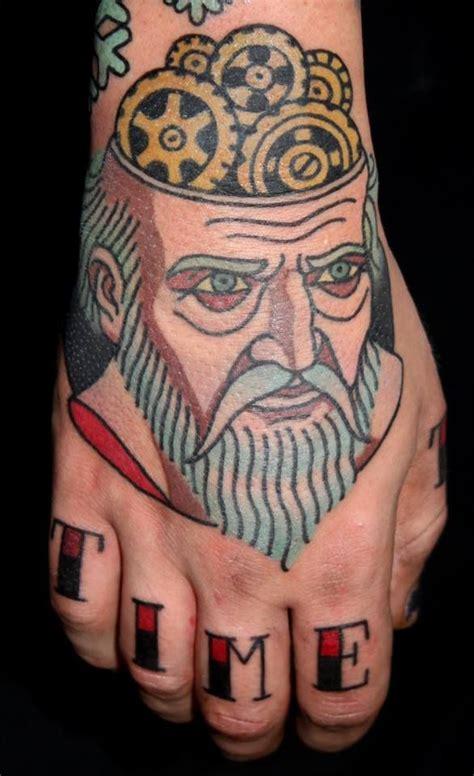 father time tattoo chronos god of time cronos chislobog time