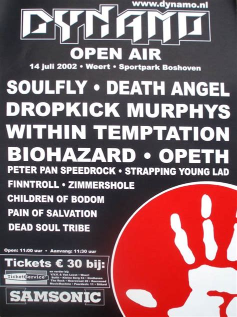 biohazard live dynamo open air dynamo open air 2002 at sportpark boshoven weert on 14
