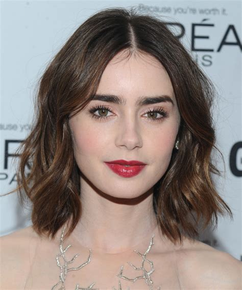 long bob haircut pale skin lily collins hairstyles in 2018