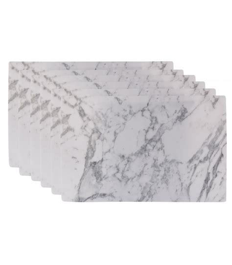 set de table design set de table design marbre en vinyle set de 6 wadiga
