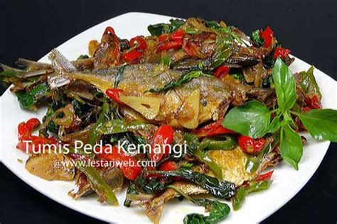kumpulan resep asli indonesia tumis ikan asin peda kemangi