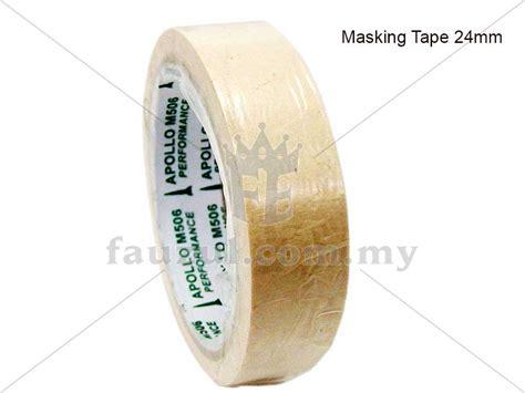 Masking 1 X 15m 24mm X 15m Merk Sks Lakban Kertas masking 24mm x 18 yards fauzul enterprise