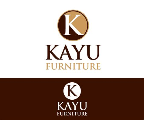 design logo kayu upmarket elegant logo design for kayu furniture by dafi