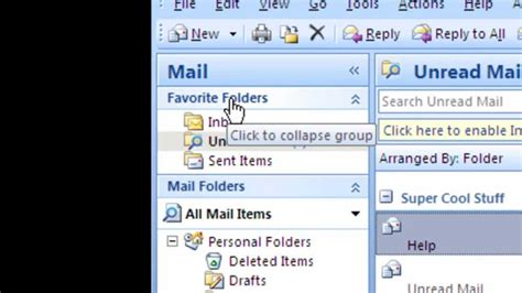 How To Search Unread Emails In Outlook How To Add A Quot Unread Mail Folder Quot In Microsoft Outlook 2007