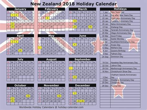 printable calendar nz 2018 new zealand 2018 2019 holiday calendar