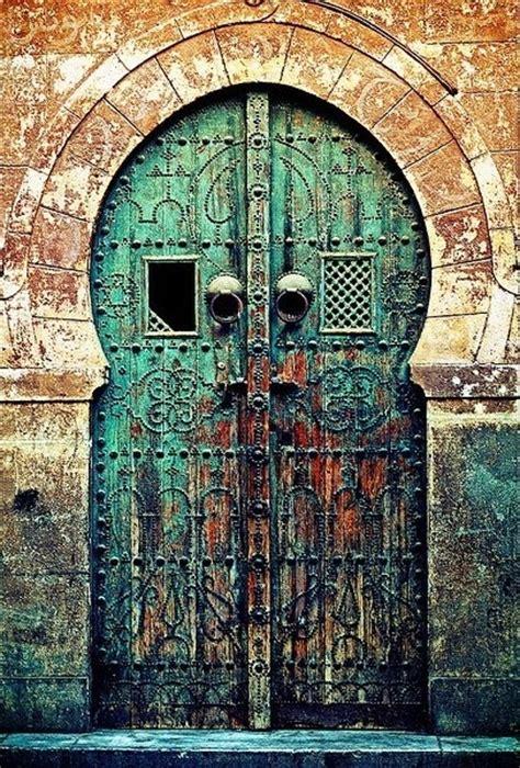 most beautiful door color turquoise moroccan double doors nomadic pinterest