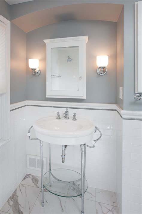 looking american olean in bathroom traditional with pencil tile next to bathroom porcelain