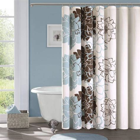 Designer Shower Curtains Decorating Designer Shower Curtains With Valance For Master Bathroom Layout With Wood Flooring Ideas