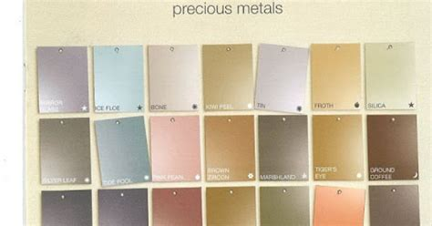 martha stewart s precious metals paint color chart exclusive to home depot walls