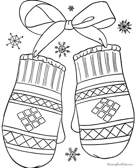winter coloring pages for adults mitten color sheet new calendar template site