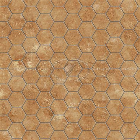 tuscany  hexagonal terracotta tile texture seamless