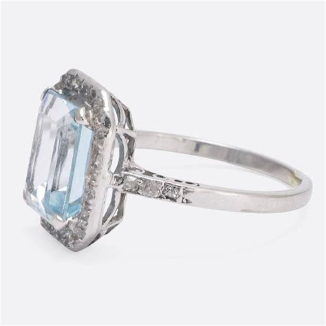 antique edwardian 4 carat aquamarine platinum