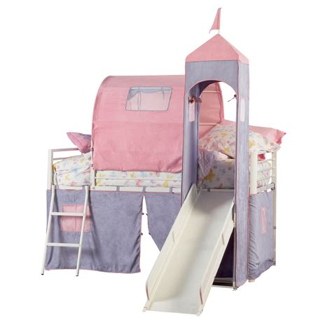 twin size bed tent powell princess castle twin size tent bunk bed with slide