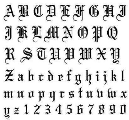 imagenes letras goticas nombres imagui molde letras goticas imagui