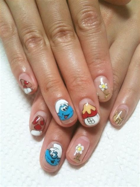 simple nail art designs 2014 simple easy smurf nail art designs ideas 2013 2014