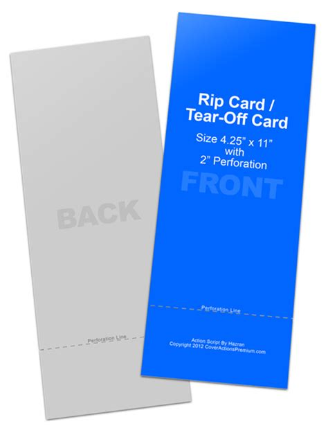 Rip Business Card Templates by Tear Card Cover Actions Premium Mockup Psd Template