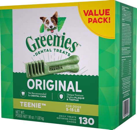greenies for dogs greenies teenie dental treats 130 count chewy
