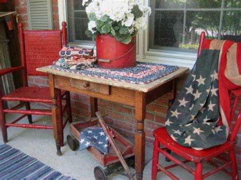 americana decorations americana porch white and blue fourth