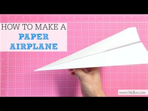 How To Make A Working Paper Airplane - how to make a paper airplane easy