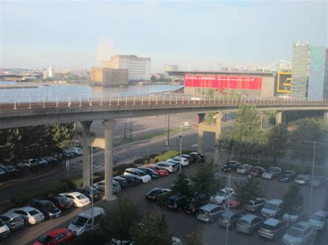 premier inn docklands view from our room railway dockland area picture of