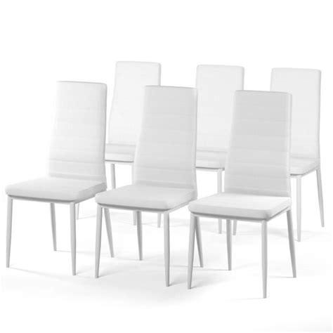 lot de 6 chaises salle a manger sam lot de 6 chaises de salle 224 manger blanches achat