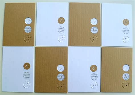 Handmade Cards With Buttons - easy peasy handmade notecards decorator s notebook