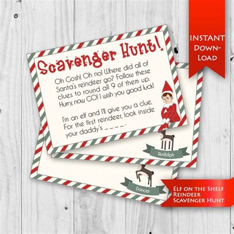 printable elf on the shelf scavenger hunt elf on the shelf scavenger hunt oh gosh oh no where