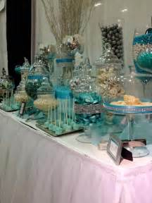 blue and white candy buffet tables blue silver and
