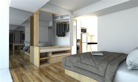 design interior apartemen 36m2 paket interior apartemen studio landmark residence bandung