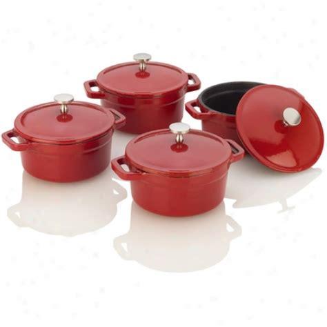 michelle b bathroom fagor michelle b red cast iron mini dutch ovens the home flooring dot com