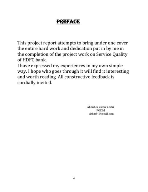 Preface For Project Report Of Mba by Preface Exles Www Pixshark Images Galleries