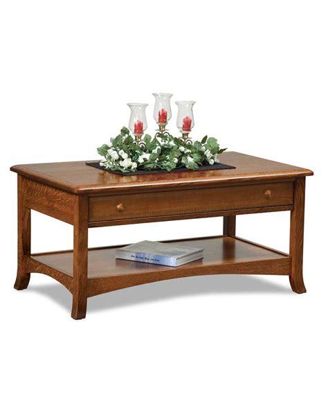 carlisle open coffee table amish direct furniture
