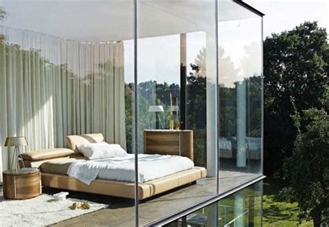 architecture bedroom creative glass room image