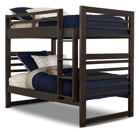 espresso bunk bed chadwick twin twin bunk bed espresso the brick