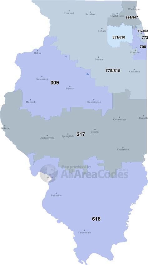 all us area codes map image gallery illinois area codes