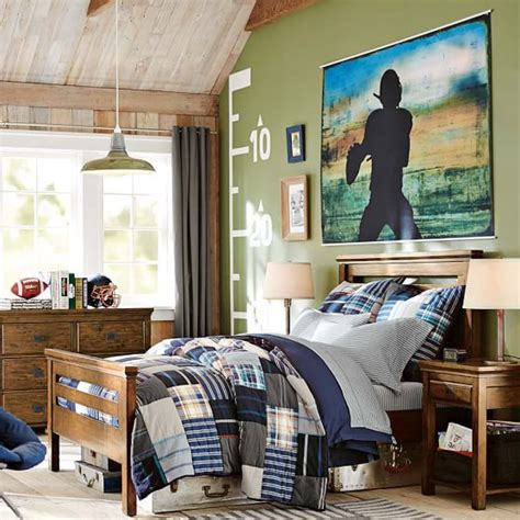 Football Murals For Bedrooms by Varsity Football Wall Mural Pbteen