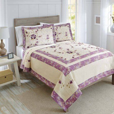 homes  gardens purple blossom quilt collection