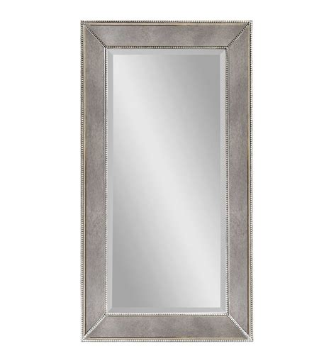 silver bathroom mirror rectangular bassett mirror murano beaded rectangular wall mirror in