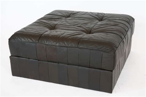 large leather ottomans large leather patchwork ottoman by de sede at 1stdibs