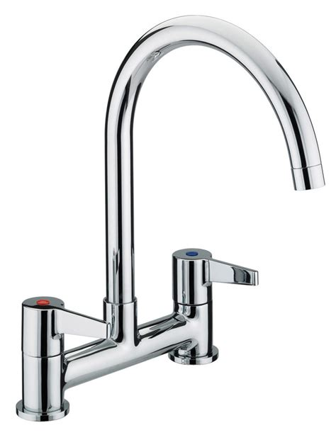 Bristan Design Utility Lever Kitchen Deck Mounted Sink Mixer Taps Kitchen Sinks